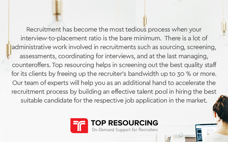 Top Resourcing Helps In Screening Out The Best Quality Staff.